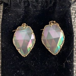 Kendra Scott Iridescent Slate Corley with Gold